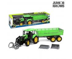 Tractor con Pala y Remolque Junior Knows 1452