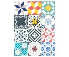 Azulejos de Vinilo Adhesivos Patchwork Multicolor 15x15cm
