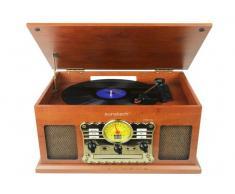 Tocadiscos Vintage Sunstech PXRC5CD Vinilo CD Cassette USB Radio