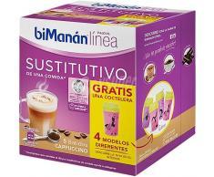 Bimanán Línea Sustitutivo Batidos Capuccino 150g (5uds) + Coctelera GRATIS
