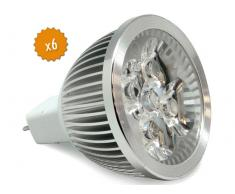 Pack 6 Bombilla led MR16C45-5W 49.0008
