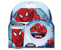 Set melamina 3 piezas: Plato, cuenco y vaso Spiderman