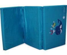 Colchón cuna de viaje Asalvo ballena azul