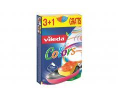 Vileda Estropajo Fibra con Esponja No raya Colors (3+1 unidades)