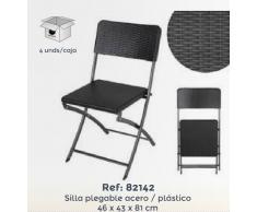 Ldk Silla Plegable Acero/Plástico (Blanco)