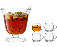 Pulsar Bar Punch Bowl Set Ø26.5cm/300ml Clear (300 ml)