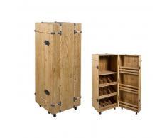 Botellero Cabinet Madera de abeto (126 x 50 x 50 cm)
