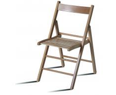 Silla de diseño plegable madera BASI