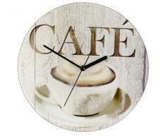 Wenko Reloj de cocina Puente de Café Decorado Bistro 27x3 cm