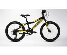 Bicicleta Mountain Bike Infantil con suspensión Negro-Amarillo