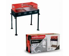 Barbacoa Doble grill Rectangular Roja 65x30xA80 cm