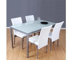 Conjunto mesa + 4 sillas blancas