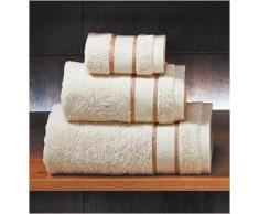 Set 3 toallas de baño Privata Crudo 100% algodón