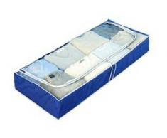 Wenko Funda para debajo de la cama Air Fieltro-Azul 100 x 45 x 13 cm