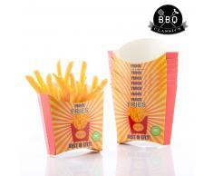 Set de Cajas para Patatas Fritas BBQ Classics (Pack de 8)