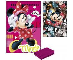 Manta polar Mickey y Minnie