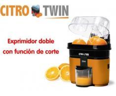CitroTwin exprimidor doble con función de corte