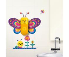 Set de limpieza dental con vinilo mural Butterfly