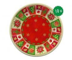 "Papstar Platos Cartón ""Navidad"" (10uds)"