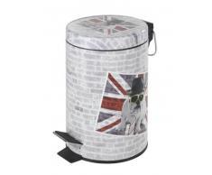 Wenko Cubo de pedal 3 lts. Union Jack Acero decorado 17x25 cm