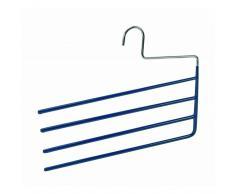 Wenko Percha antideslizante para pantalones KH 4 Azul oscuro 33 x 06.26 cm
