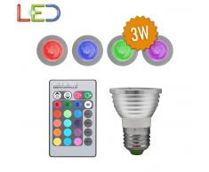 Bombilla LED E27RGB45 3W 16 Tonos