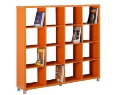Kit Closet Estanteria Kubox 4*4 Naranja 65044