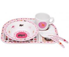 Lassig Vajilla Savannah Pink 5 Piezas