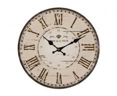 Reloj vintage Camon 33cm Marrón y Beige números romanos