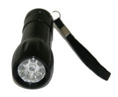 Linterna aluminio 9 leds con batería