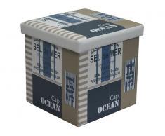 Puff cuadrado Ocean 38x38x37cm