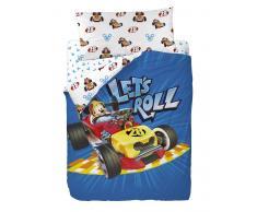 Funda nórdica 3 piezas cama 90 cm Mickey Let's Roll
