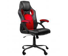 Silla de oficina Racing GS1 Negro-Rojo