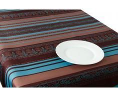 Mantel Brown-Blue Arabesque