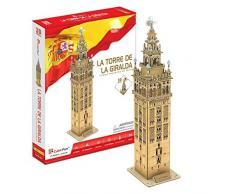 Puzzle 3D La Torre de la Giralda Cubic fun 55 piezas