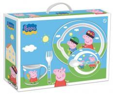 Set Peppa Pig 5 pzs (Plato + Cuenco + Taza + Cubiertos)