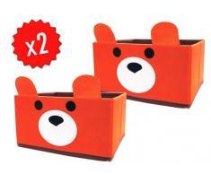 Pack 2 Cajas almacenamiento Osito Jocca