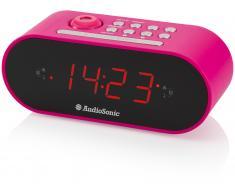 Audiosonic Radio Despertador Proyección Rosa (1 kg)