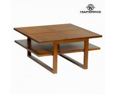 Mesa de Centro Craftenwood (90 x 90 x 45 cm) - Colección Chocolate
