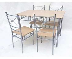 conjunto de mesa y 4 sillas modelo Nisel