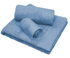 Set 3 toallas de baño Privata Azul 100% algodón