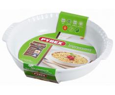 Pyrex Molde Tarta Con Asas 26 Blanco Impressions