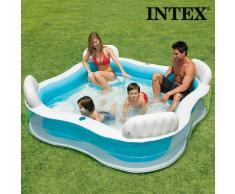 Piscina Hinchable Familiar con Asientos Summer Intex
