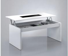 Mesa elevable con cristal