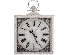 Vical Home Reloj pared cuadrado vidrio y metal