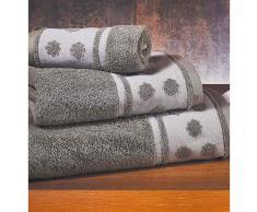 Set 3 toallas de baño Privata Gris Oscuro 100% algodón