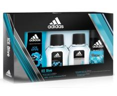 Set Adidas Ice Dive (100ml EDT + Gel ducha 250 ml + Desodorante 150 ml + AfterShave 100ml)