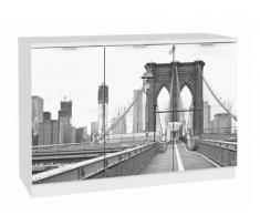 Aparador 3 puertas Paint: modelo puente Brooklyn