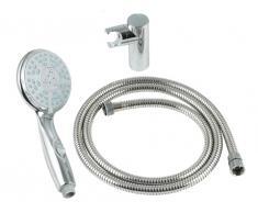 Set de ducha IXORIA: flexo, soporte cónico y ducha