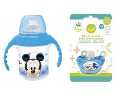 Pack Chupete + Taza de entrenamiento Mickey Baby